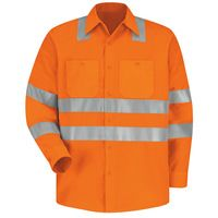 Red Kap SS14OF High Visibility Safety Long Sleeve Work Shirt Thumbnail